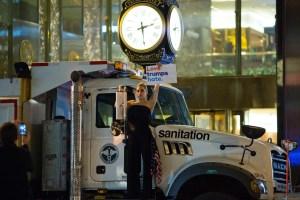 Lady Gaga outside of Trump Tower